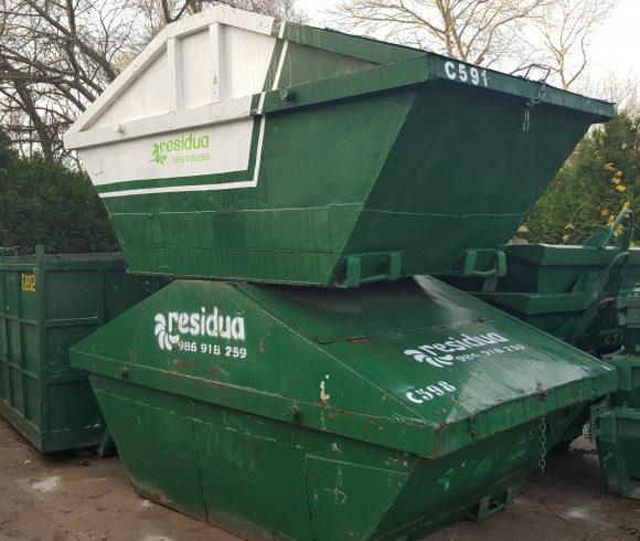 Tipos de contenedores para residuos de obras